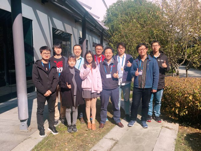 Taking an academic visit in Suzhou